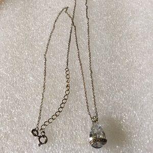 Vintage 925 crystal necklace
